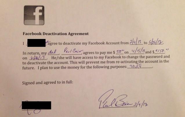 14-летняя девушка согласилась не пользоваться Facebook в обмен на $200