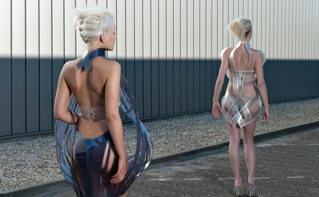 Studio Roosegaarde Intimaci White Black Интимность 2.0   платье, которое исчезает от возбуждения