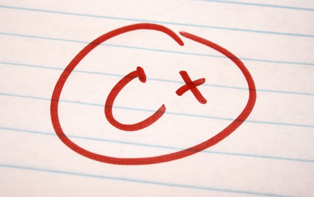 c plus school letter grade Американская студентка хочет отсудить у вуза $1 млн за плохую оценку