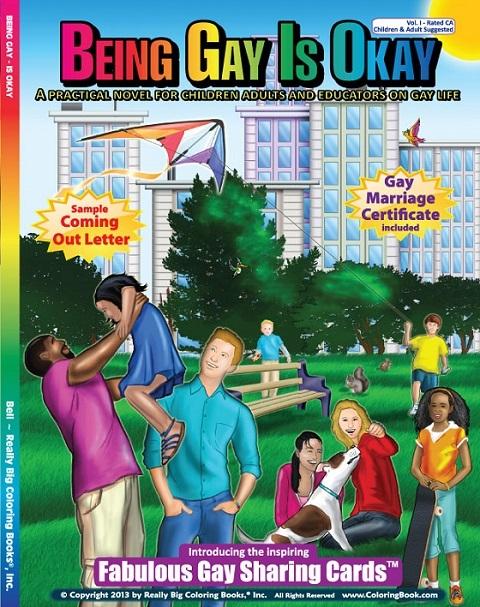 being gay is okay 11 В США издали книжку раскраску Быть геем   нормально