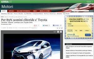 1380277524 screengrab1 Тойота Клиторис. Шутливый опрос посрамил итальянские СМИ